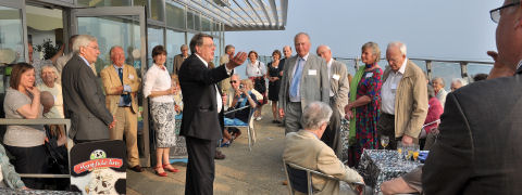 Welcoming members of The Devonshire Association