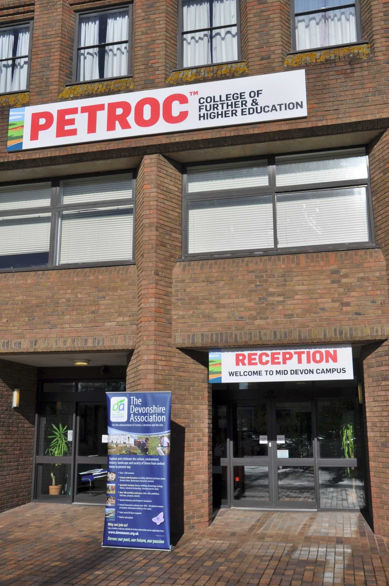 Main entrance to Petroc College of further & higher education, Tiverton