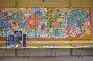 Mosaic in Buckfast Abbey's Schiller Hall