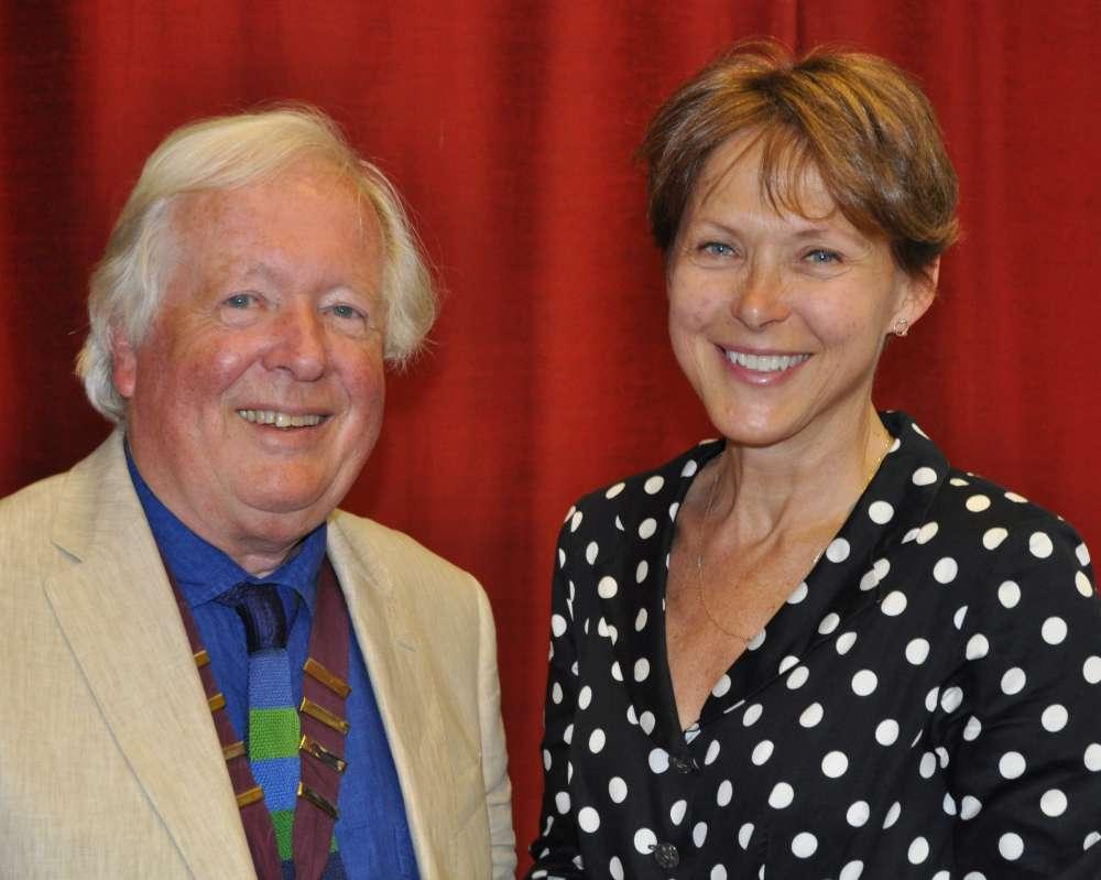 The Devonshire Association's chairman Rev. Peter Beacham OBE with future president Dame Suzi Leather