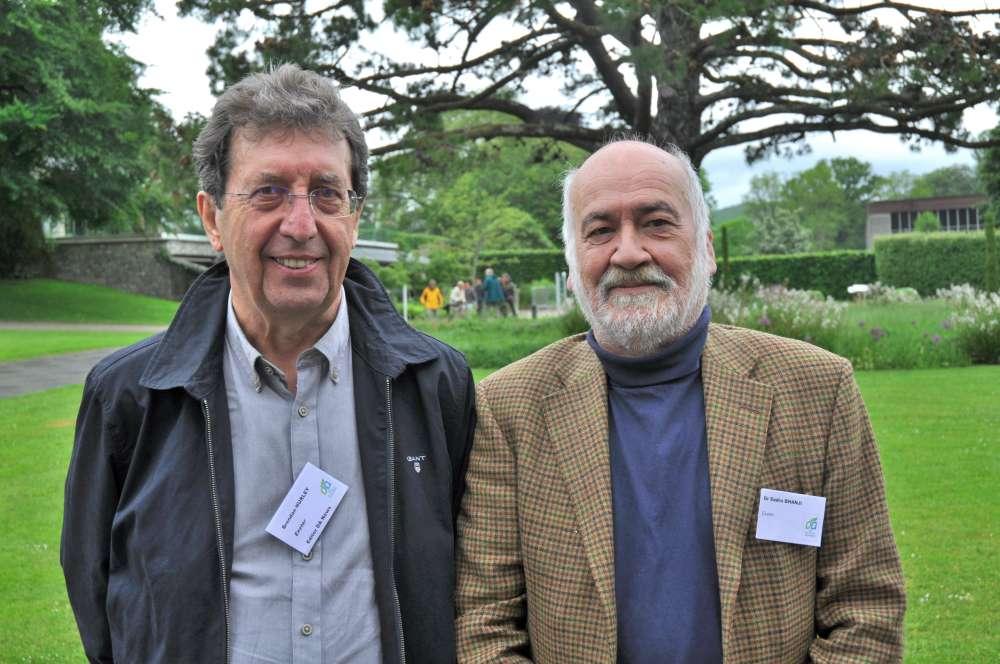 The Devonshire Association's outgoing DA News Editor Brendan Hurley with outgoing Book Review Editor Dr Sadru Bhanji