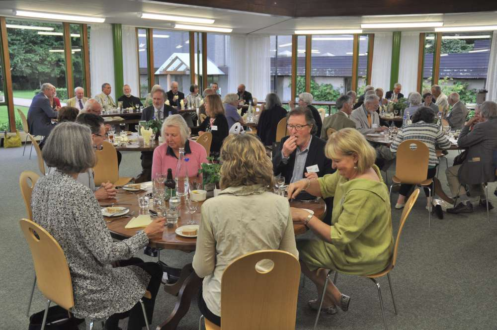Buffet supper in the Conference Centre Refectory at the Devonshire Association's 2017 conference at Buckfast Abbey