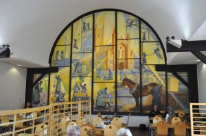 Mural in the Grange Restaurant at Buckfast Abbey