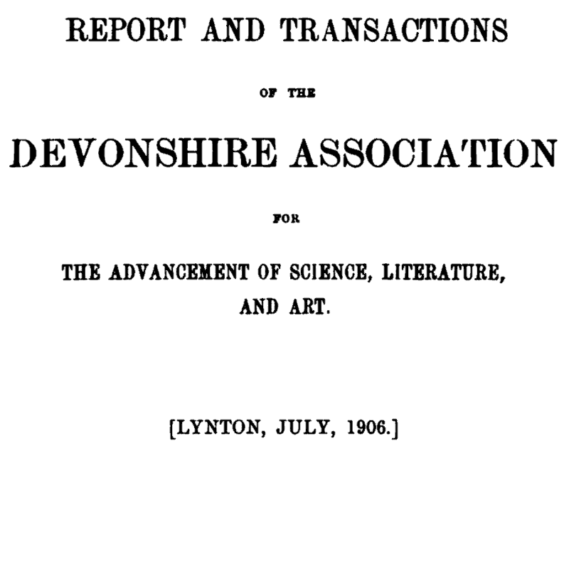 Part of title page of the 1906 volume of Transactions
