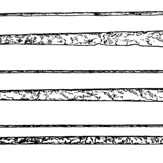 line drawing of three metal bars