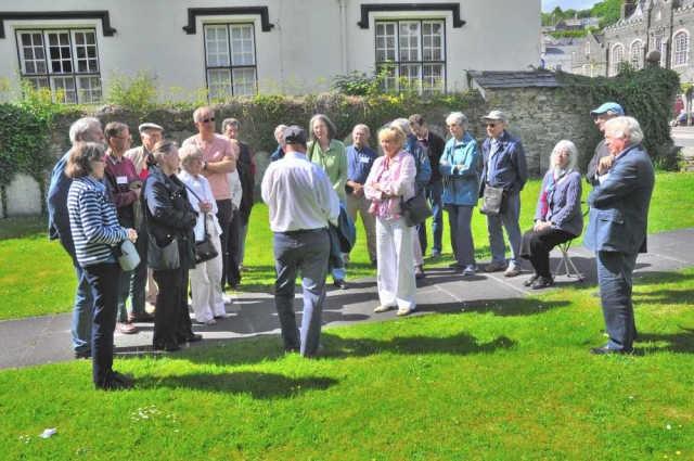 DA group in Abbey Chapel precincts, Tavistock