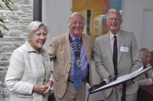 The Rev Peter Beacham OBE, Mrs Helen Harris and Dr Gerald Boalch