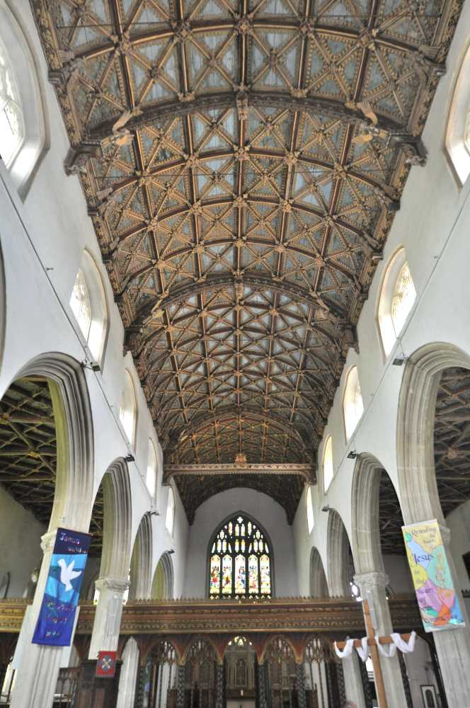 Superb wagon roof, St Andrews Church, Cullompton