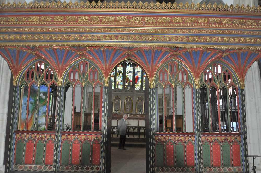 Rood-screen, St Andrew's Church, Cullompton