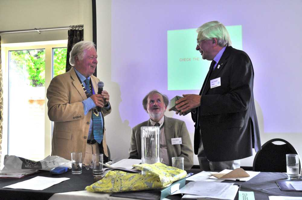 DA Chairman, Peter Beacham OBE and Hon Secretary, Bob Letcher