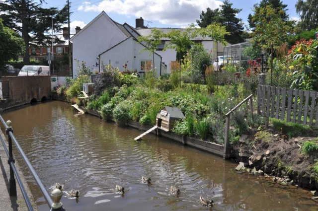 Duck houses, Mill Leat, Cullompton