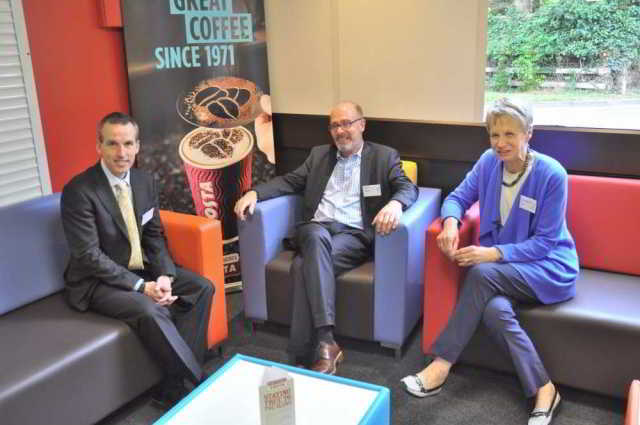 Giles Hunt, Andrew Vines and Judith Petts - speakers at DA symposium