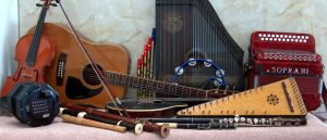 A selection of musical instruments