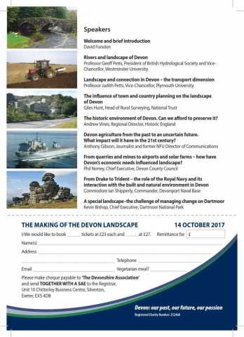 Devonshire Association Symposium 2017 Flyer