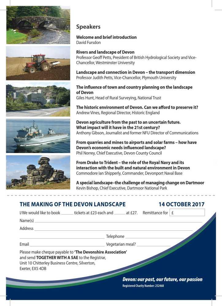 Devonshire Association Symposium 2017 Flyer