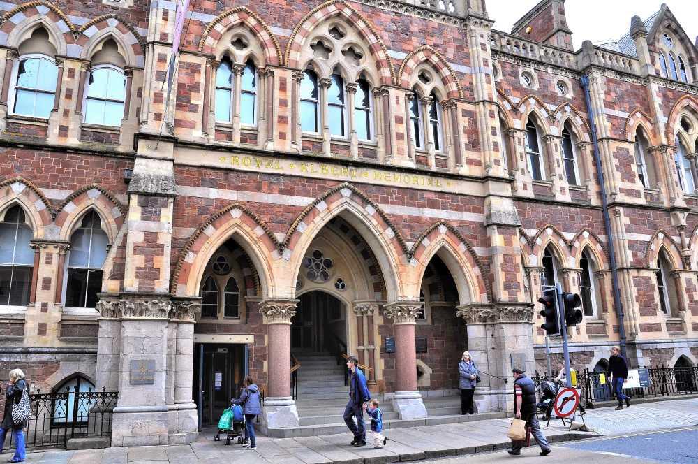 Entrance to Royal Albert Memorial Museum (RAMM)