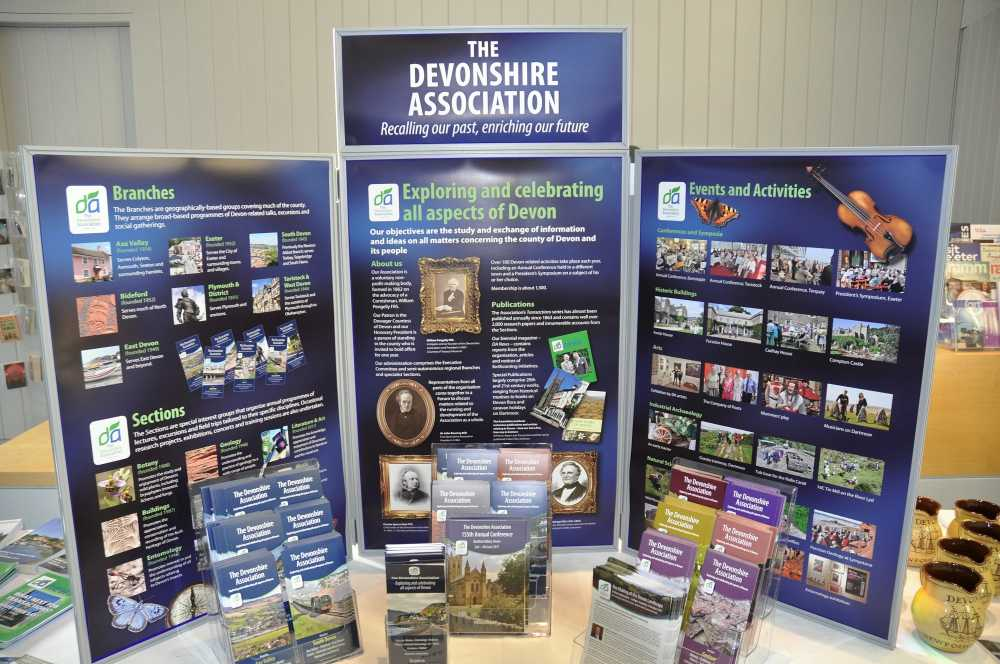 display of Devonshire Association material