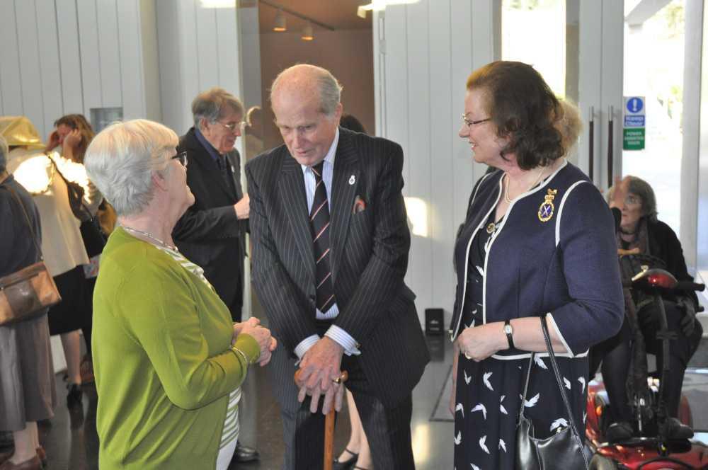 Geoffrey and Angela Gilbert, descendants of Sir Humphrey Gilbert
