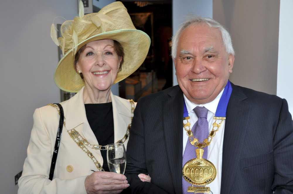 Cllr Sue Croft, Chair of North Devon Council, and Cllr Mervyn Langmead, Chair of Torridge District Council