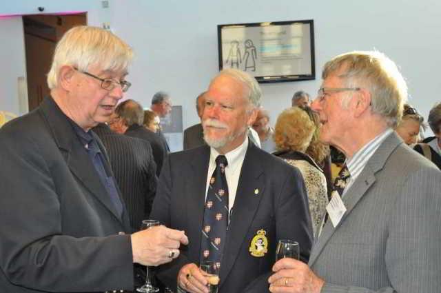 Newfoundlanders Prof Olav Janzen, Christopher Morry and DA vice-chair John Mather