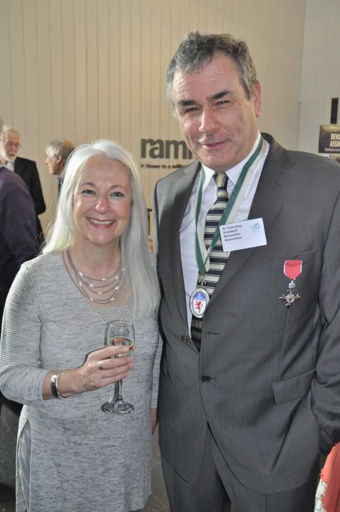 Delphine Jones and DA President Dr Todd Gray