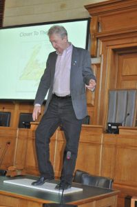 Jim Payne demonstrating Old World folk dance steps
