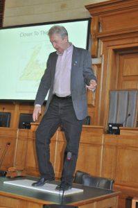 Jim Payne demonstrating Old World folk dance steps