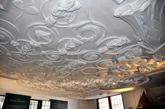 Plaster ceiling, Dartmouth Museum