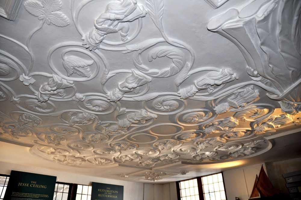 Plaster ceiling, Dartmouth Museum