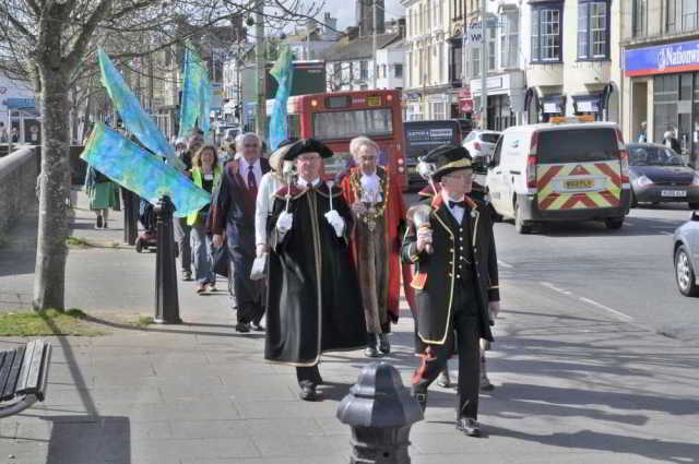 Mayoral procession, Bideford