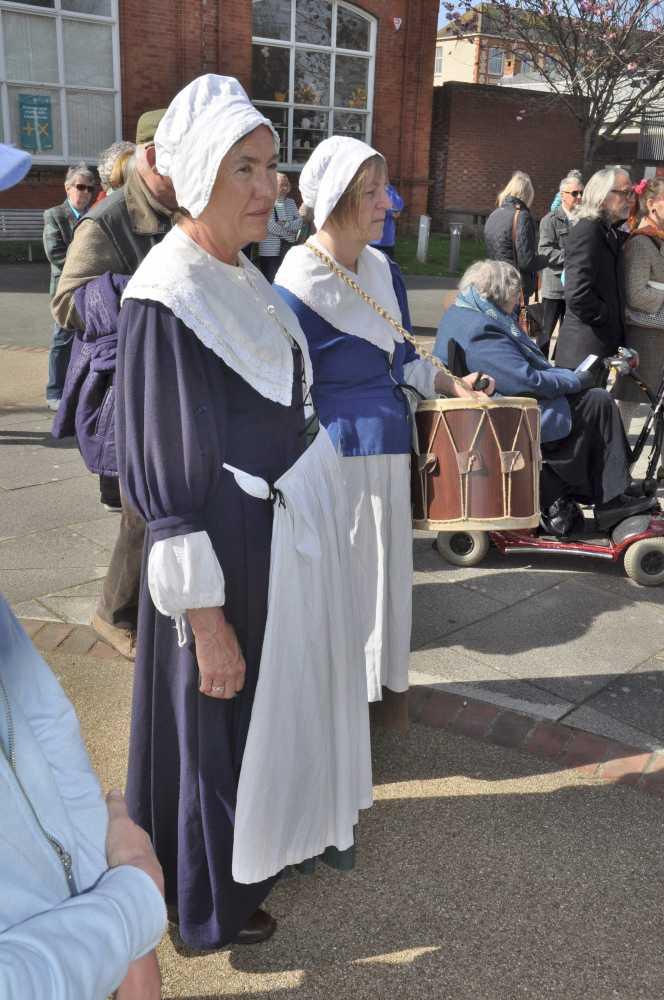 medieval costume at Bideford
