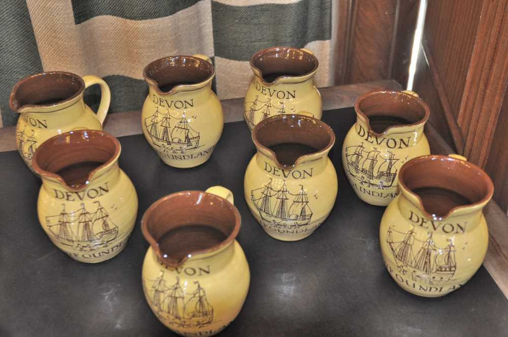 souvenir jugs for DA's Devon-Newfoundland event