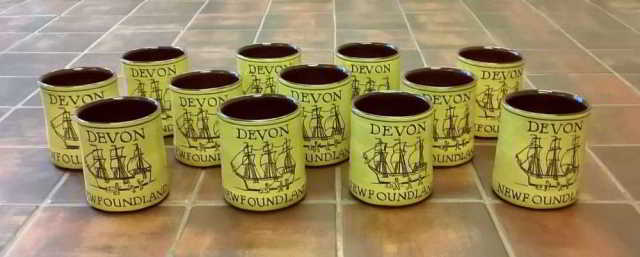 souvenir mugs for DA's Devon-Newfoundland event