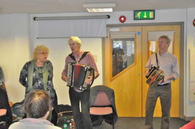 Marilyn Tucker, Paul Wilson and Jim Hayne at DA's Devon Newfoundland Story