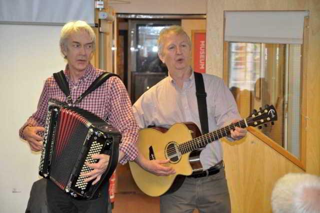 Paul Wilson and Jim Payne at DA's Devon Newfoundland Story
