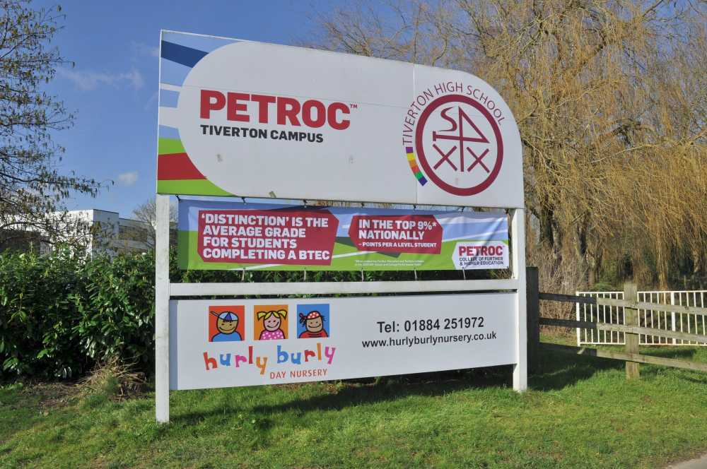 Sign, Petroc College, Tiverton