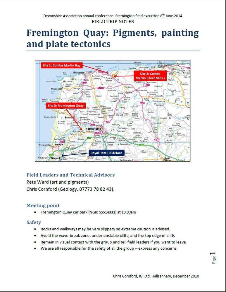 Fremington Quay field guide