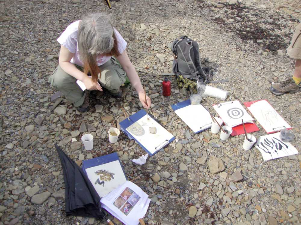 Painting with natural rock pigments, Fremington