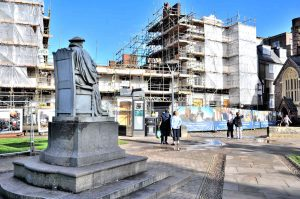 rebuilding the Royal Clarence Hotel, Exeter, Sep 2017