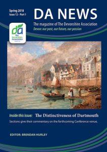 DA News, The Devonshire Association's magazine. Spring 2018