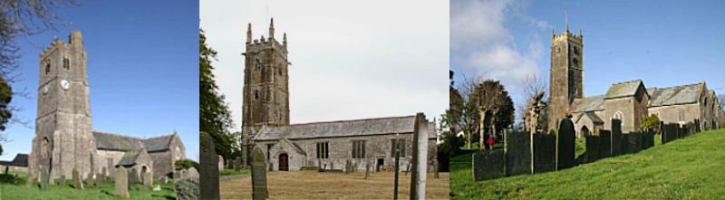 Atherington, Alwington and High Bickington churches, Devon