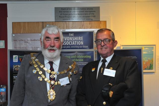 Robert Lyon, Mayor of Dartmouth and Ron Lambden, Town Sergeant