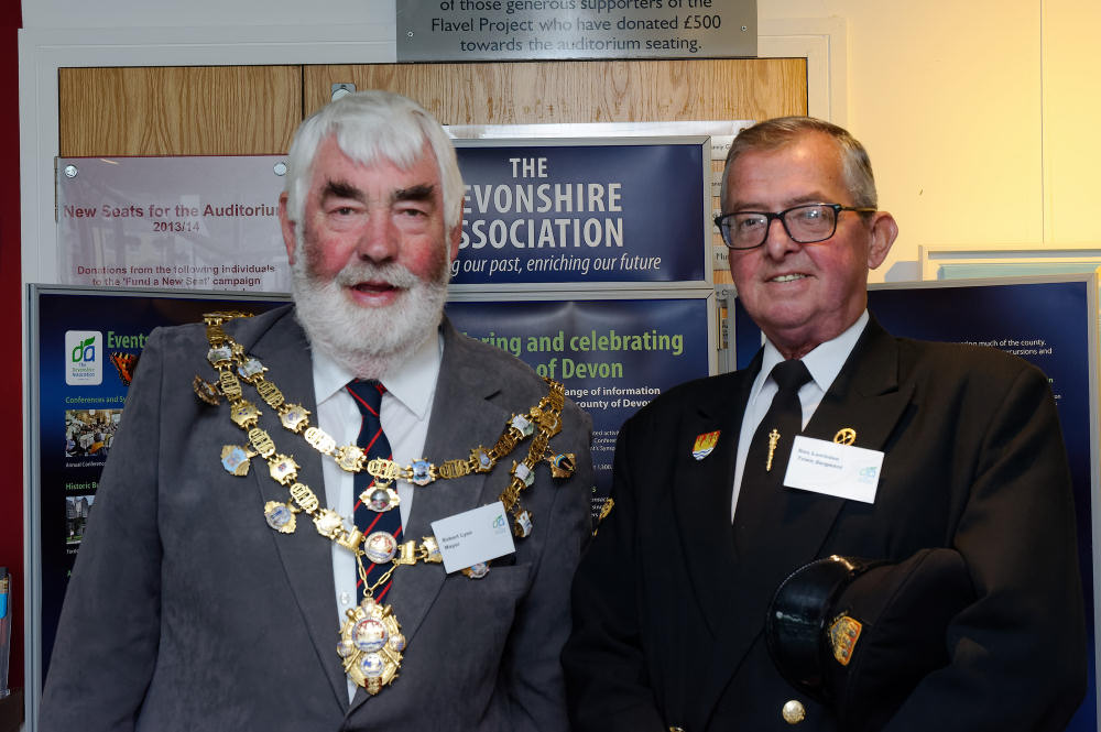 Robert Lyon, Mayor of Dartmouth and Ron Lambden, Town Sergeant
