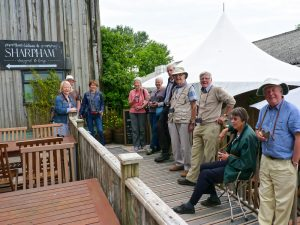 Members of the Devonshire Association at Sharpham Vineyard