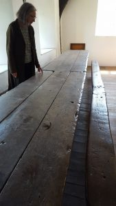 Original table in Sampford Courtenay church house, Devon