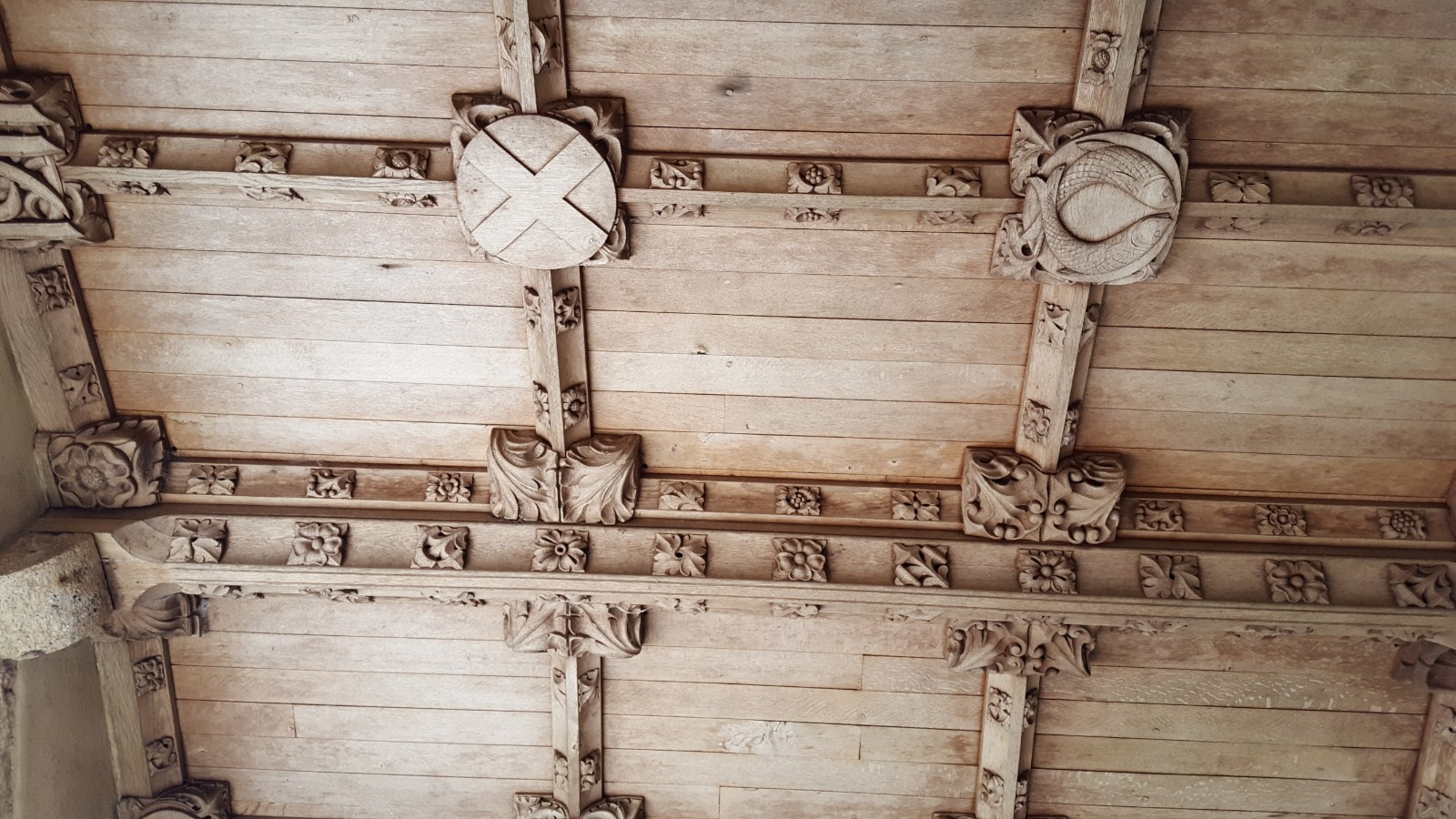 Pinwill sisters ceiling, St Andrew's church, Sampford Courtenay, Devon