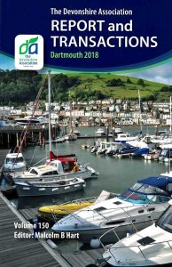 Front cover of The Devonshire Association's 150th volume of Transactions, 2018.