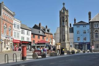 The town square, Launceston