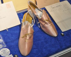 A pair of Marlene Dietrich's shoes at the Bill Douglas Cinema Museum, Exeter.