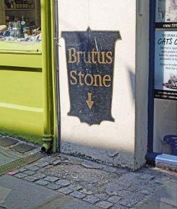 The Brutus Stone in Totnes
